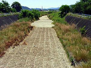 草津川 廃川となった旧流路